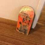 1/2 skateboard that comes with the room