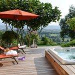 Espace détente - SPA : bain à remous d'exterieur