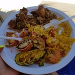 The Beach BBQ was awesome, PAELLA!!!!!