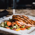 Grilled Salmon over mixed veggies
