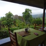 Breakfast table view.
