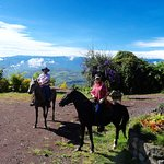 Riding with Nelson from Guayabo lodge