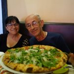 my folks in love with the pizza