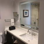 Large vanity and lighted mirror