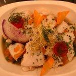 Cabillaud et legumes en boullion Tartar de Thon