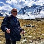 Hiking in the Alps, near the Matterhorn.