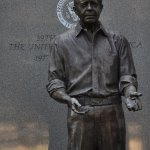 detail of Jimmy Carter statue