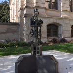 sculpture commemorating expulsion of African American legislators from the State Capitol in 1868