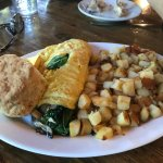 Sausage & Spinach Bunkhouse Omelette