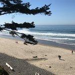 Birds-eye view of the beach