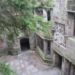 An interior courtyard at Skipton Castle