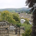 Looking out from the castle over the town of Skipton