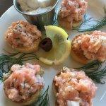 Salmon Tartar with aioli - gotta try this!