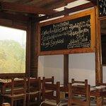 Vegetarian menu & decor