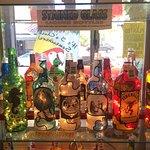 J. Gordon Stained Glass Bottles