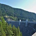 walking across the dam