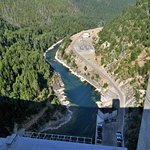 looking down to the South Fork Flathead River