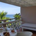 Tropical views of ocean & mountains