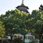 The building of my hotel room with the Leifang Pagoda in the background. Just 10 - 15 minutes wa
