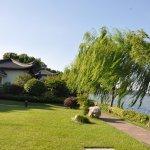 The hotel resort lake shore.