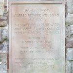 A. E. Housman's memorial
