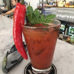 a perfect bloody-mary - don't let the chili scare you!