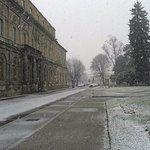 La basilica è a dx della foto...con neve fresca.
