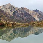 八方池に映りこむ白馬三山