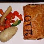 Q-T-'Pie' or Steak, Red Wine and Mushroom pie.