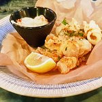 Crispy squid and aioli.