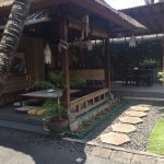 One of the sitting areas in the restaurant compound.
