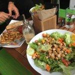 Large Salad e sandwich vegano .... ottimoooo!