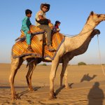With my Camel and the 10 years old expert driver Salim