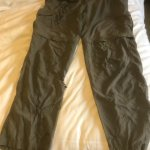 Trousers as returned by hotel after drying