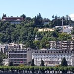 Villa Leopoldo, top of the hill slightly left of centra (from lake)