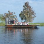 A typical airboat for the tours.