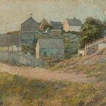 George Wharton Edwards, (American, 1859-1950)  Farmhouses on Monhegan Island,