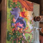 Two pieces missing from the Winnie the poo puzzle.