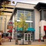 2nd floor restaurant offers great view of outdoor surroundings