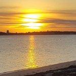 Sandbars on Cape Cod Bay Foto
