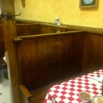 Old fashioned wooden booths