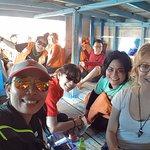 Suasana di kapal klotok berangkat dari pelabuhan Kali Adem