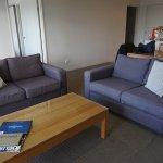 Living room sofa area