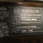 Menu board for Brickford Town