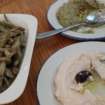 Fried mediterranean smelts; house dips