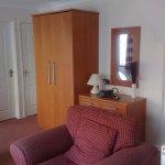 Living area in the studio apartment