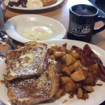 French Toast, Potatoes, Bacon and Eggs