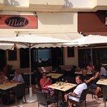 terrace of restaurant Miel
