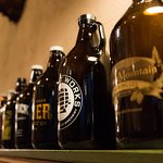 The many growlers from the owners, all of whom sound like they're pretty serious about their bee