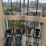 Duplex fitness suite on top floor